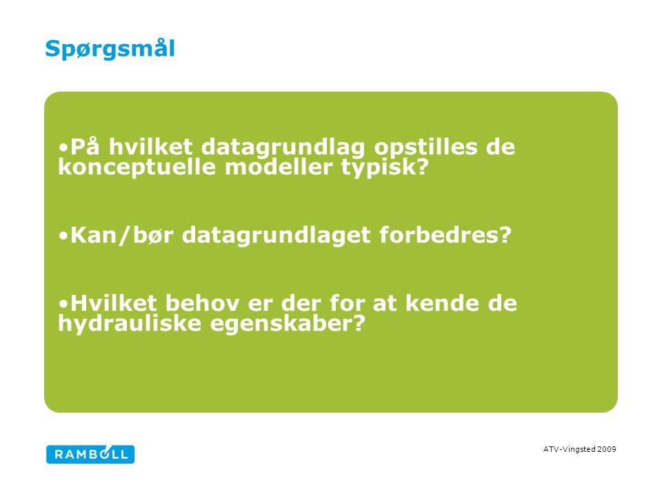 ATV-Vingsted 2009 Spørgsmål På hvilket datagrundlag opstilles de konceptuelle modeller typisk.