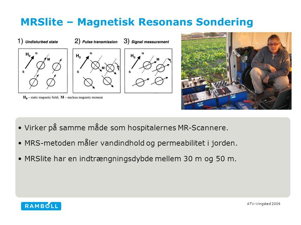 ATV-Vingsted 2009 MRSlite – Magnetisk Resonans Sondering Virker på samme måde som hospitalernes MR-Scannere.