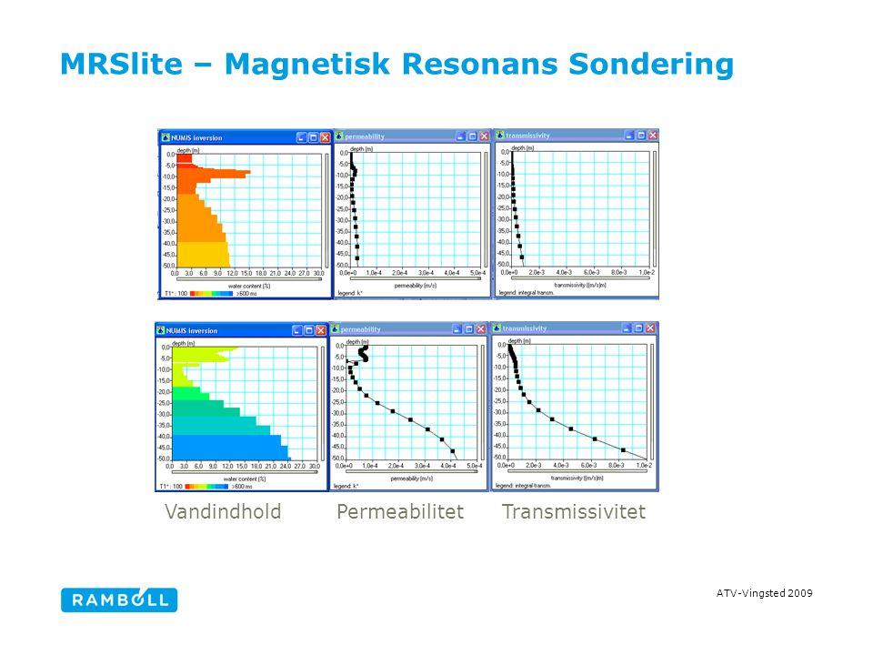 ATV-Vingsted 2009 MRSlite – Magnetisk Resonans Sondering VandindholdPermeabilitetTransmissivitet