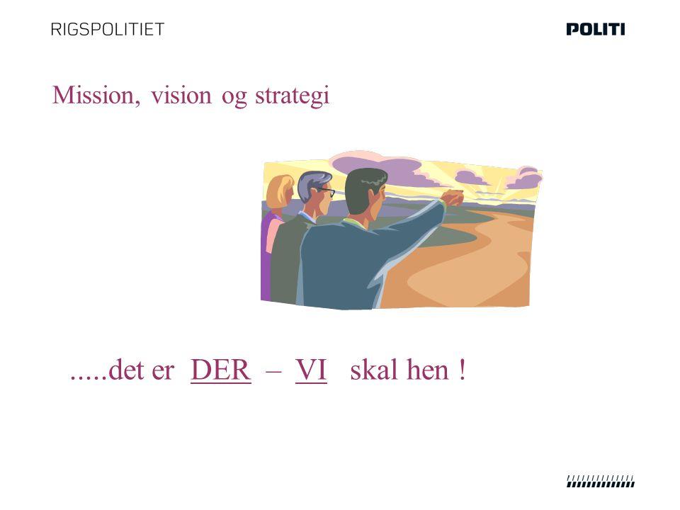 Mission, vision og strategi.....det er DER – VI skal hen !