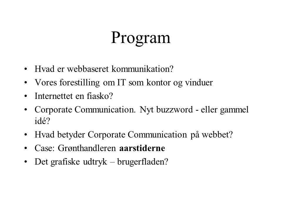 Program Hvad er webbaseret kommunikation.