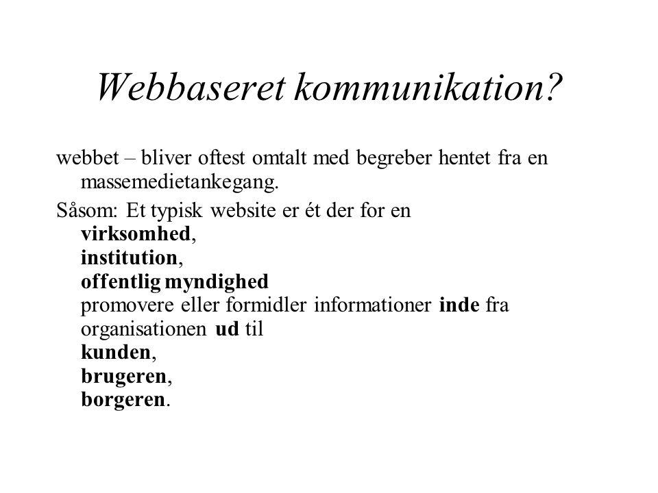Webbaseret kommunikation.