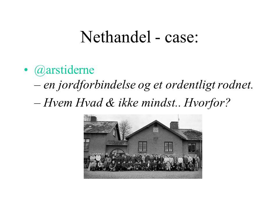 Nethandel - case: @arstiderne – en jordforbindelse og et ordentligt rodnet.