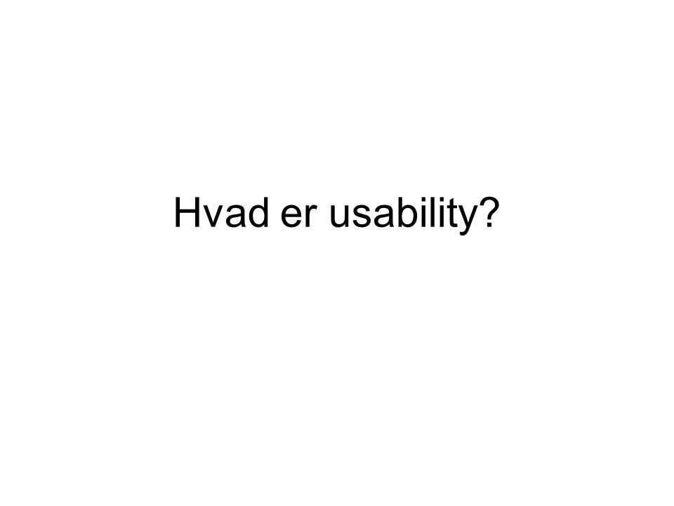 Hvad er usability