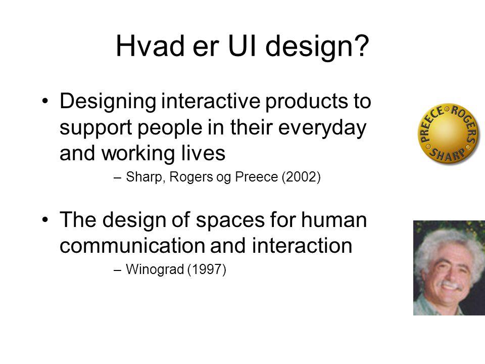 Hvad er UI design.