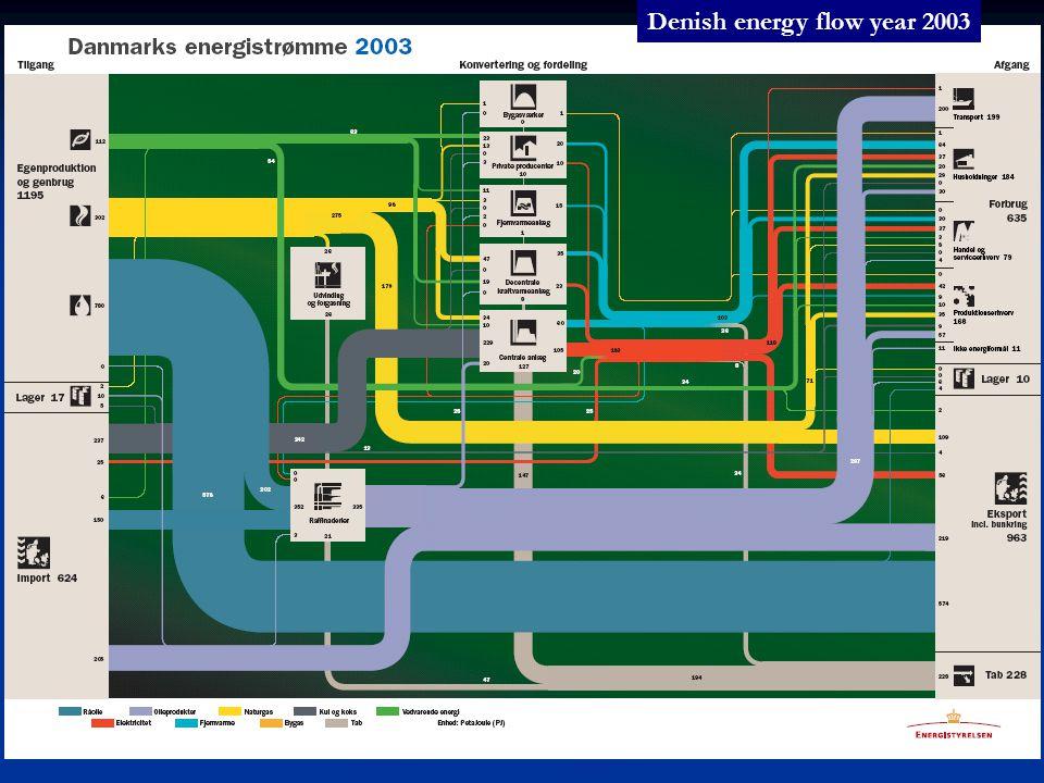 Denish energy flow year 2003
