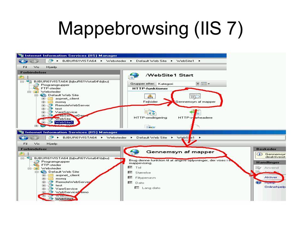 Mappebrowsing (IIS 7)