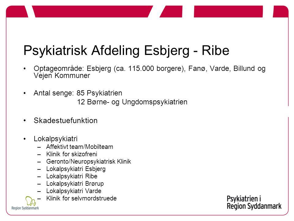Psykiatrisk Afdeling Esbjerg - Ribe Optageområde: Esbjerg (ca.