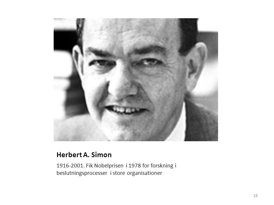 18 Herbert A. Simon 1916-2001.