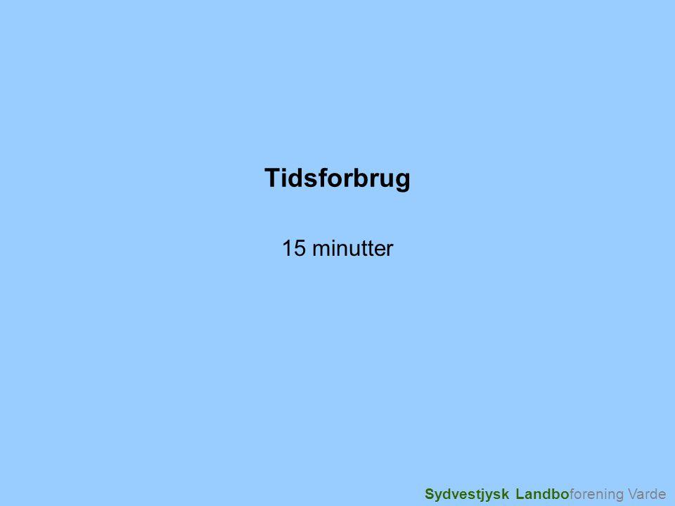 Sydvestjysk Landboforening Varde Tidsforbrug 15 minutter