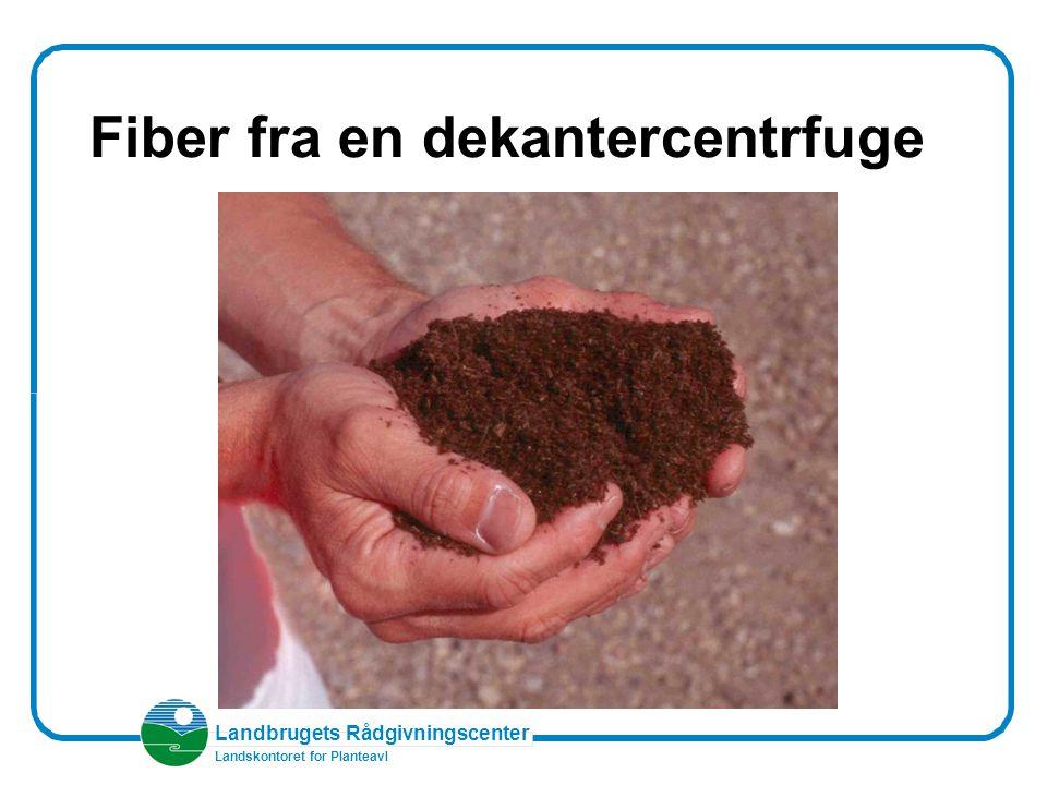 Landbrugets Rådgivningscenter Landskontoret for Planteavl Fiber fra en dekantercentrfuge