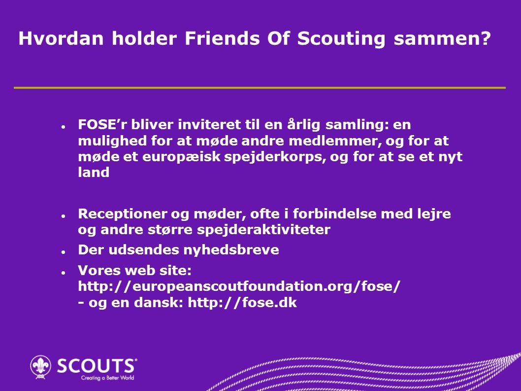 Hvordan holder Friends Of Scouting sammen.