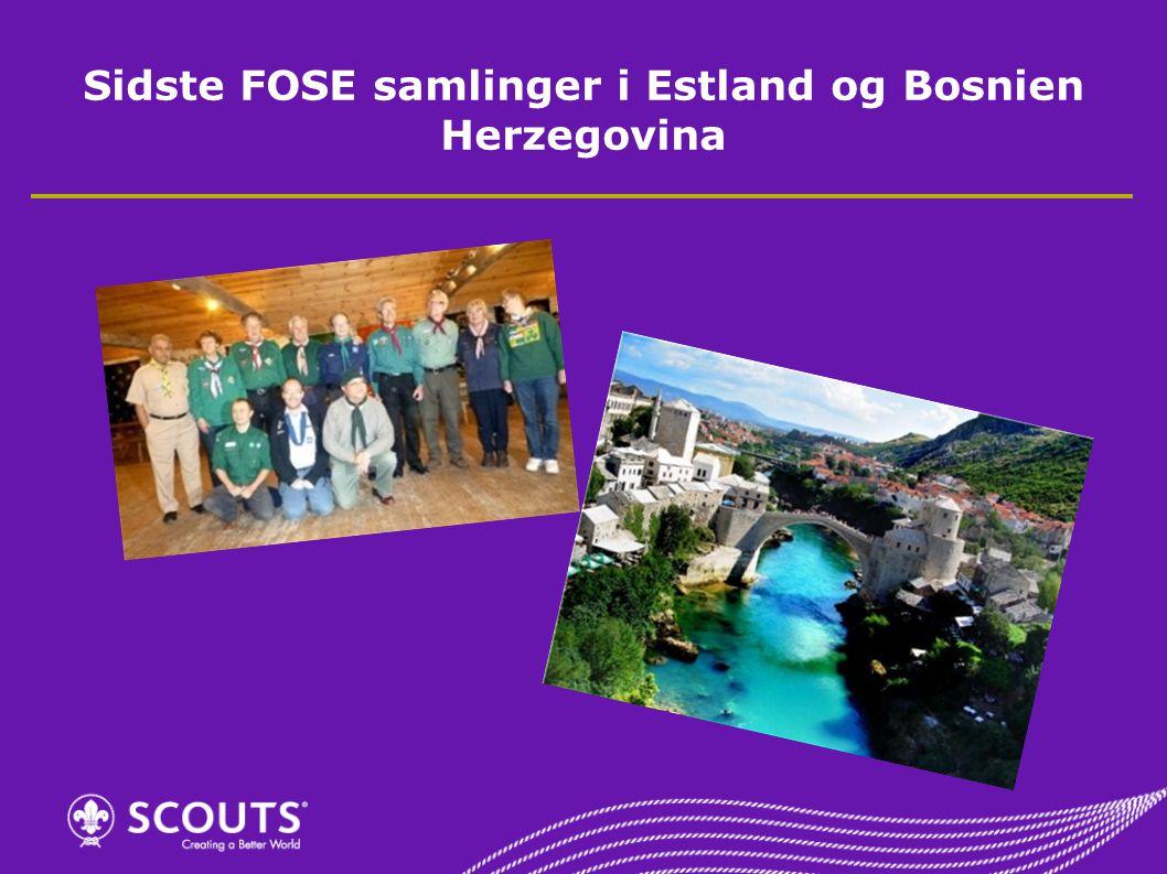 Sidste FOSE samlinger i Estland og Bosnien Herzegovina