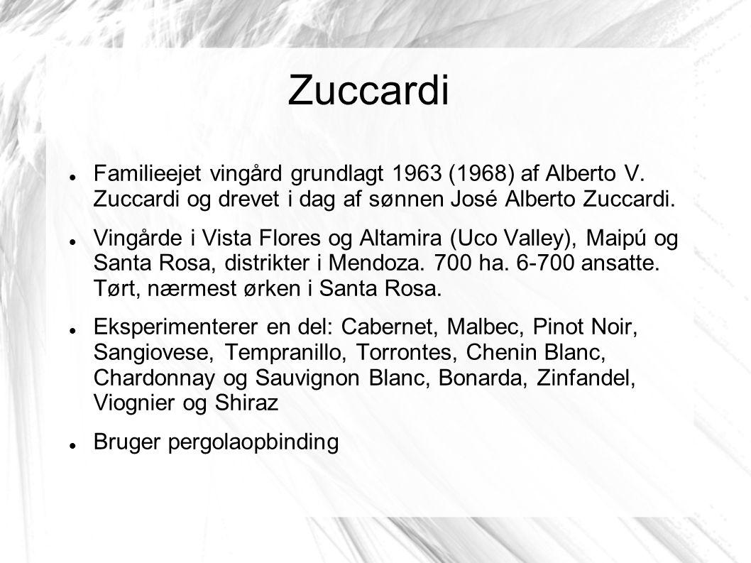 Zuccardi Familieejet vingård grundlagt 1963 (1968) af Alberto V.