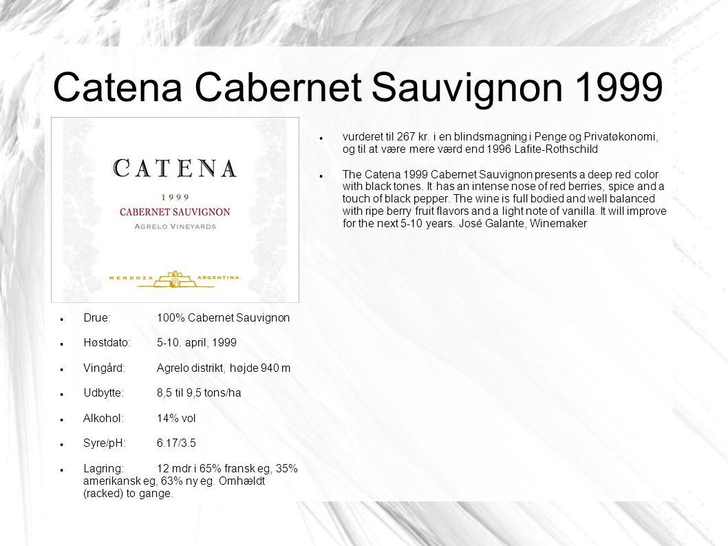 Catena Cabernet Sauvignon 1999 vurderet til 267 kr.