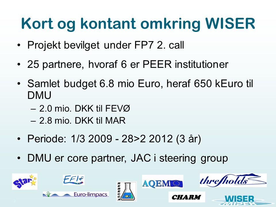 Kort og kontant omkring WISER 2 Projekt bevilget under FP7 2.