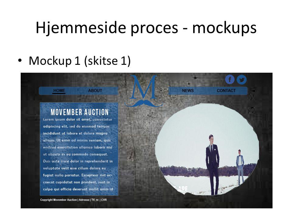 Hjemmeside proces - mockups Mockup 1 (skitse 1)