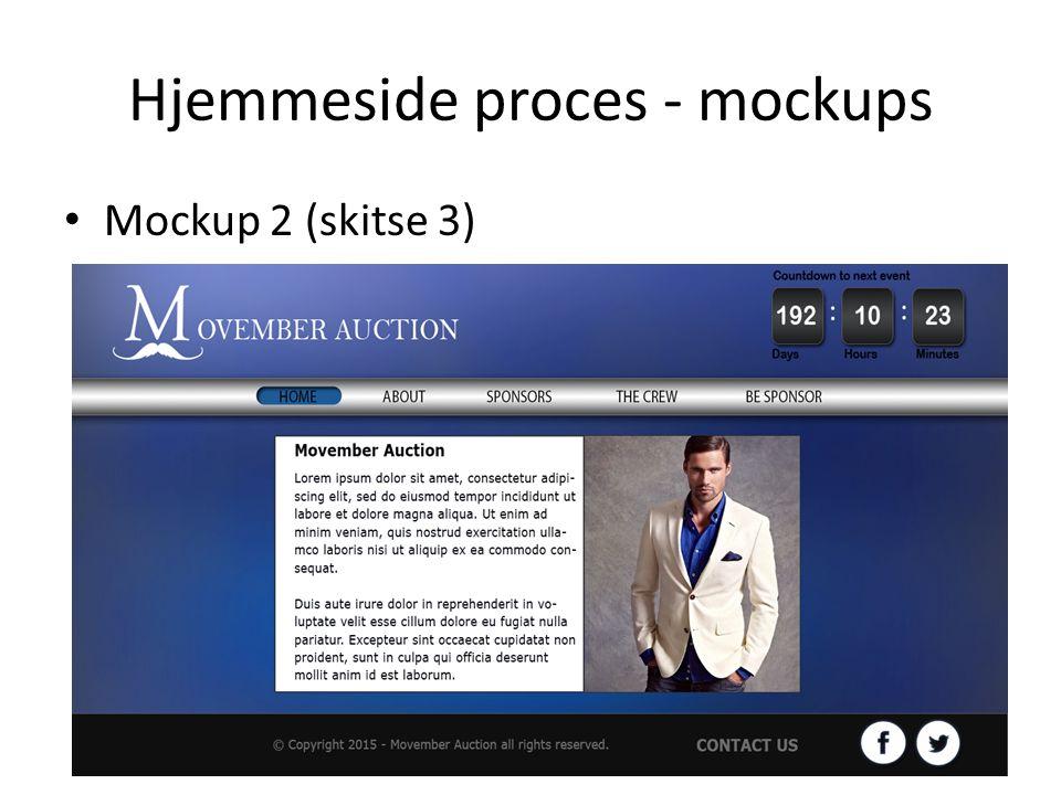 Hjemmeside proces - mockups Mockup 2 (skitse 3)