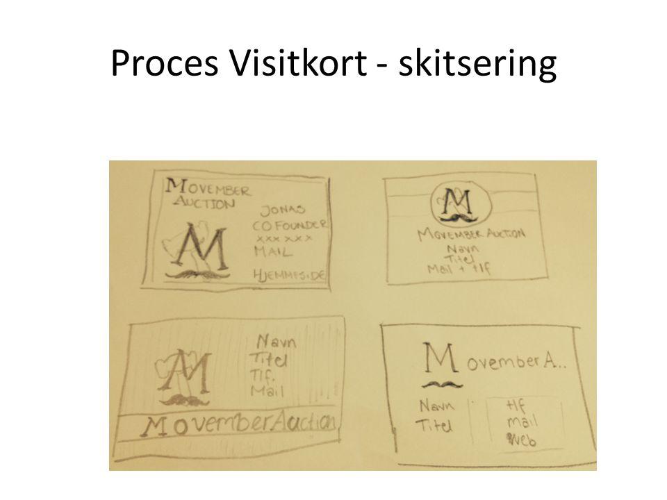 Proces Visitkort - skitsering
