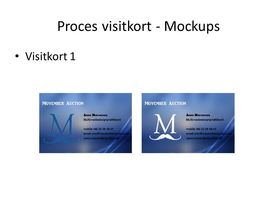 Proces visitkort - Mockups Visitkort 1