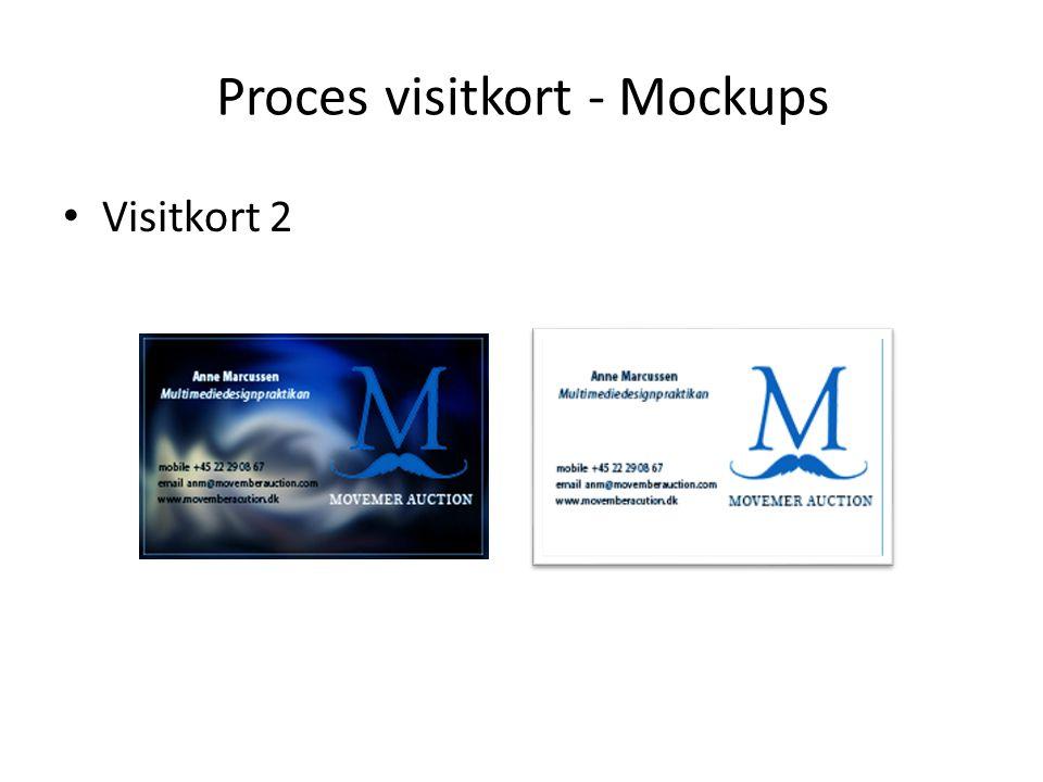 Proces visitkort - Mockups Visitkort 2