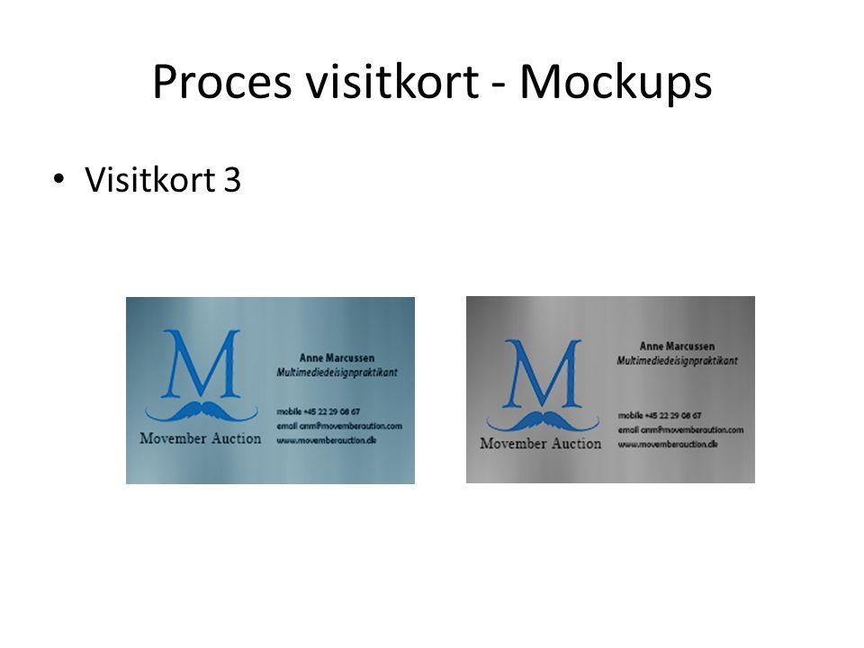 Proces visitkort - Mockups Visitkort 3