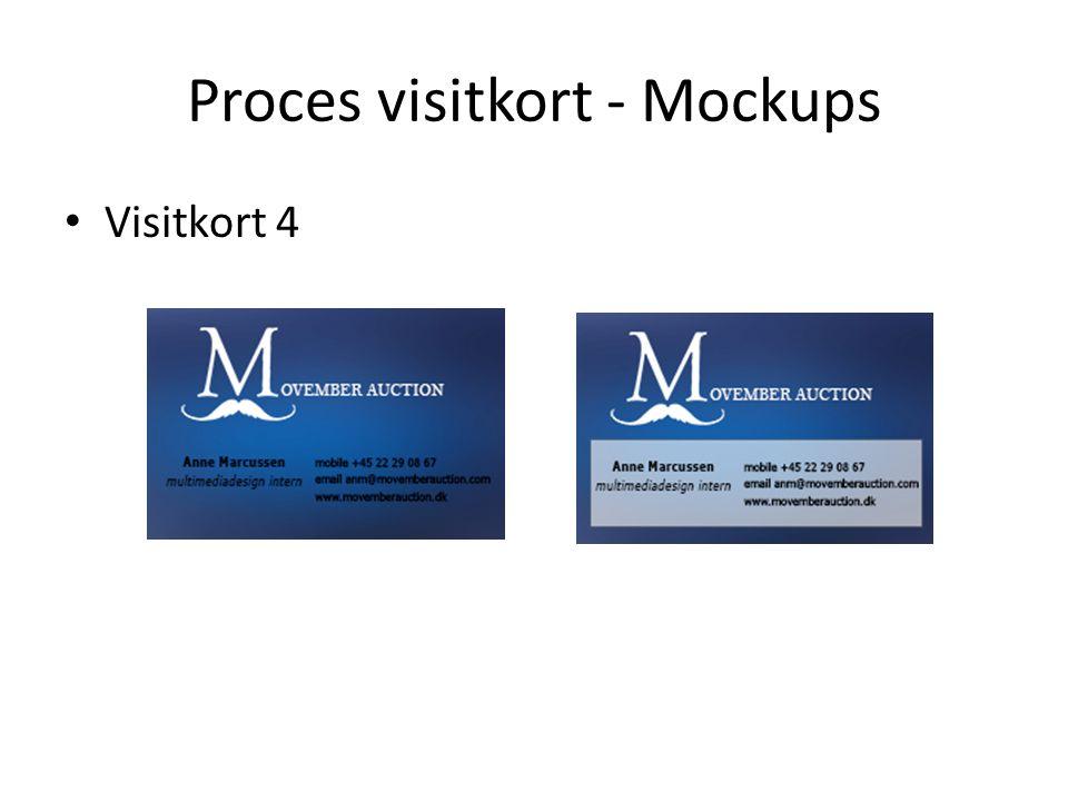 Proces visitkort - Mockups Visitkort 4