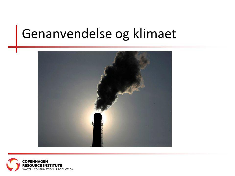 Genanvendelse og klimaet