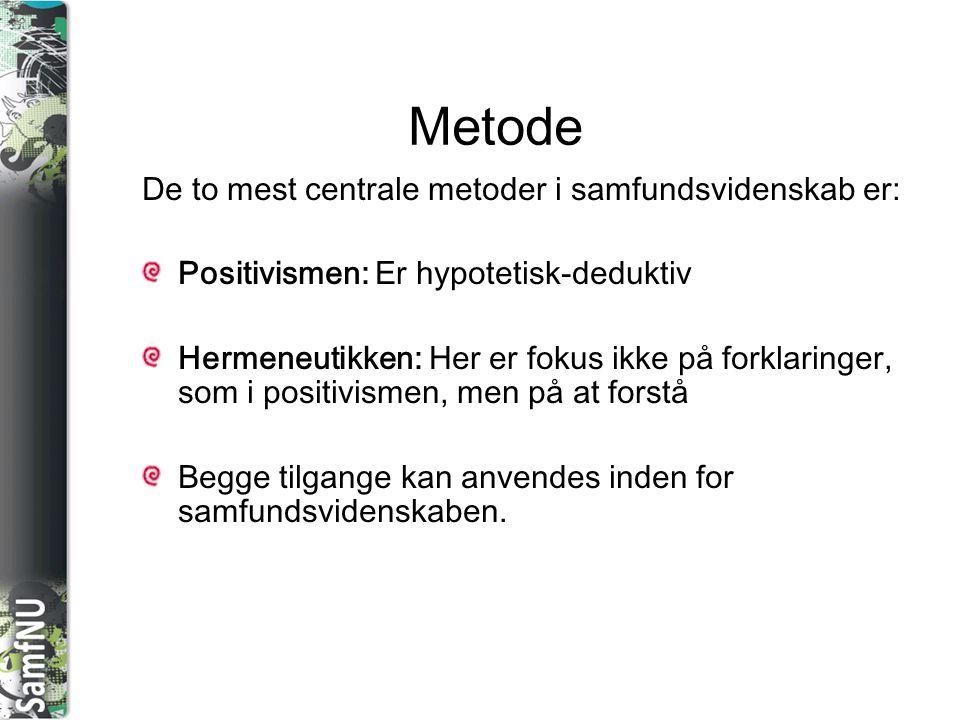 SAMFNU Metoder