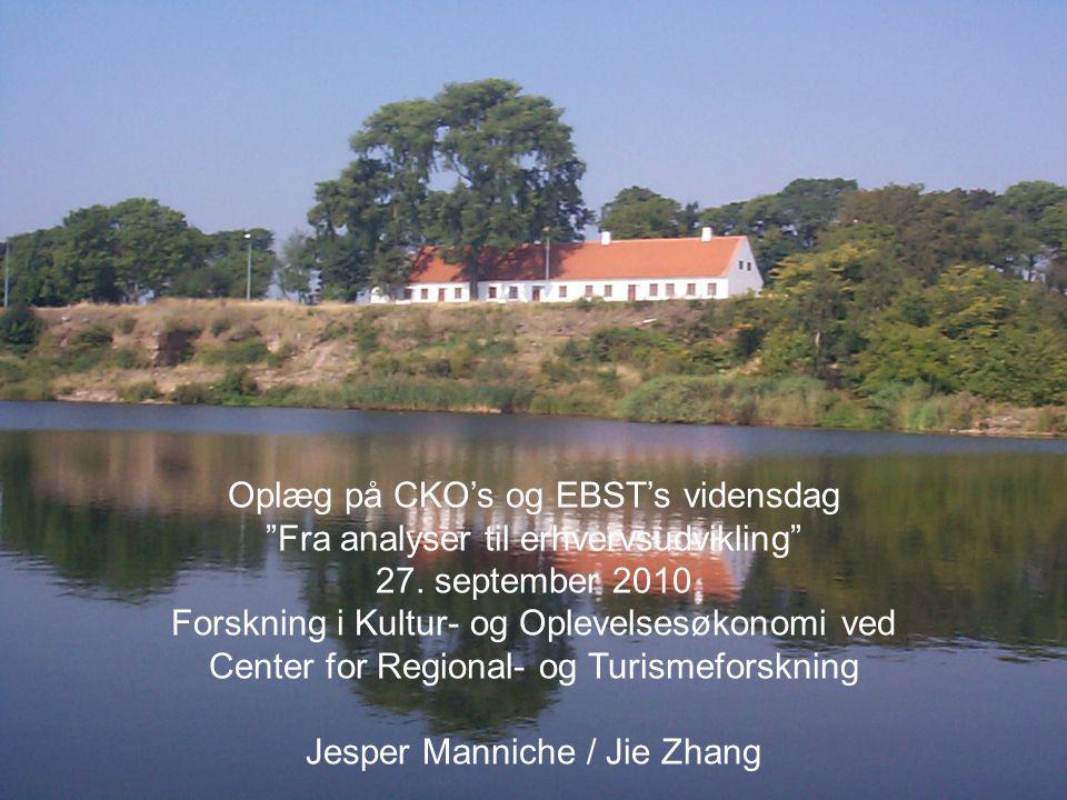 Peter Billing, Centre for Regional & Tourism Research Oplæg på CKO's og EBST's vidensdag Fra analyser til erhvervsudvikling 27.