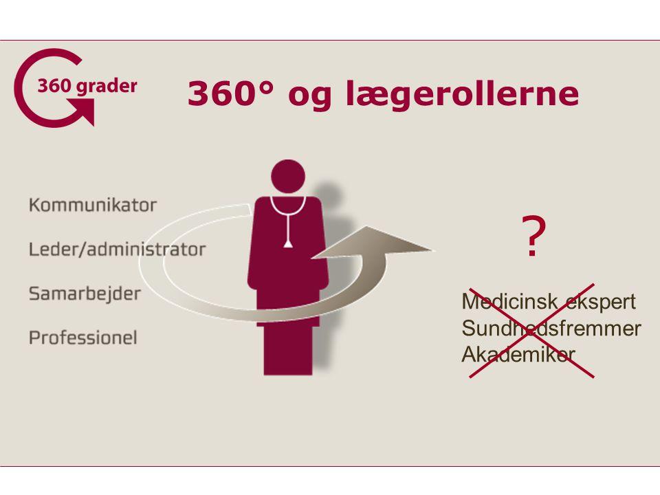 360° og lægerollerne Medicinsk ekspert Sundhedsfremmer Akademiker