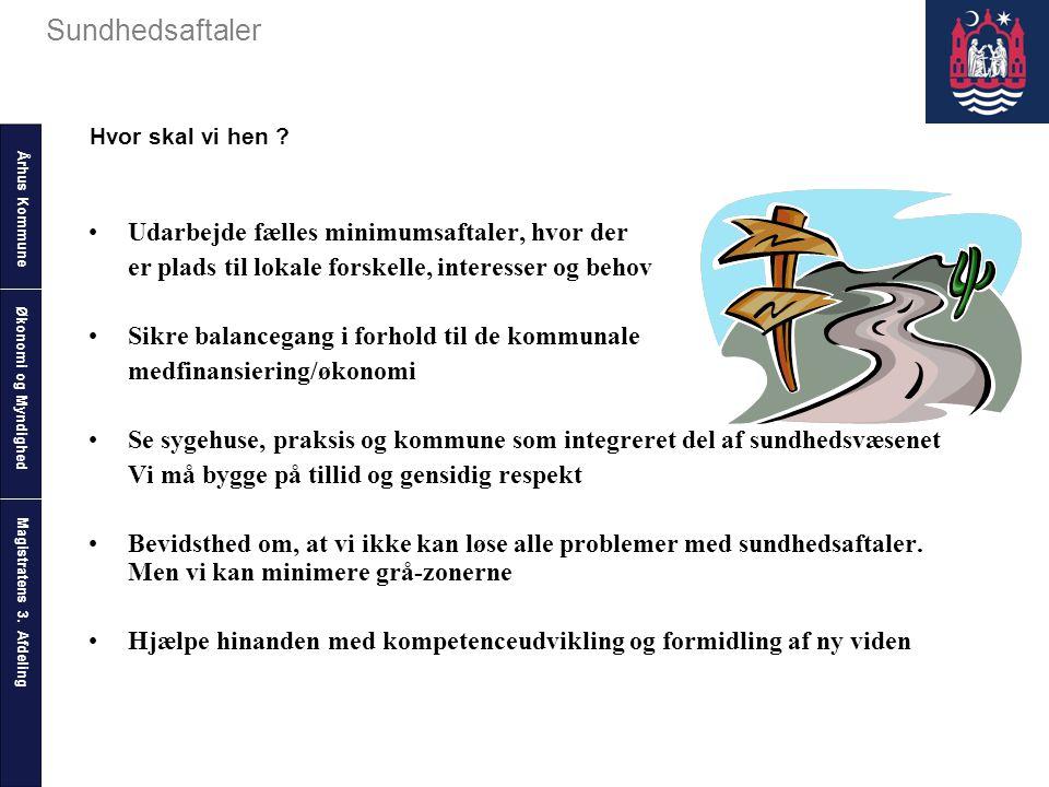 Århus Kommune Magistratens 3. Afdeling Sundhedsaftaler Økonomi og Myndighed Hvor skal vi hen .