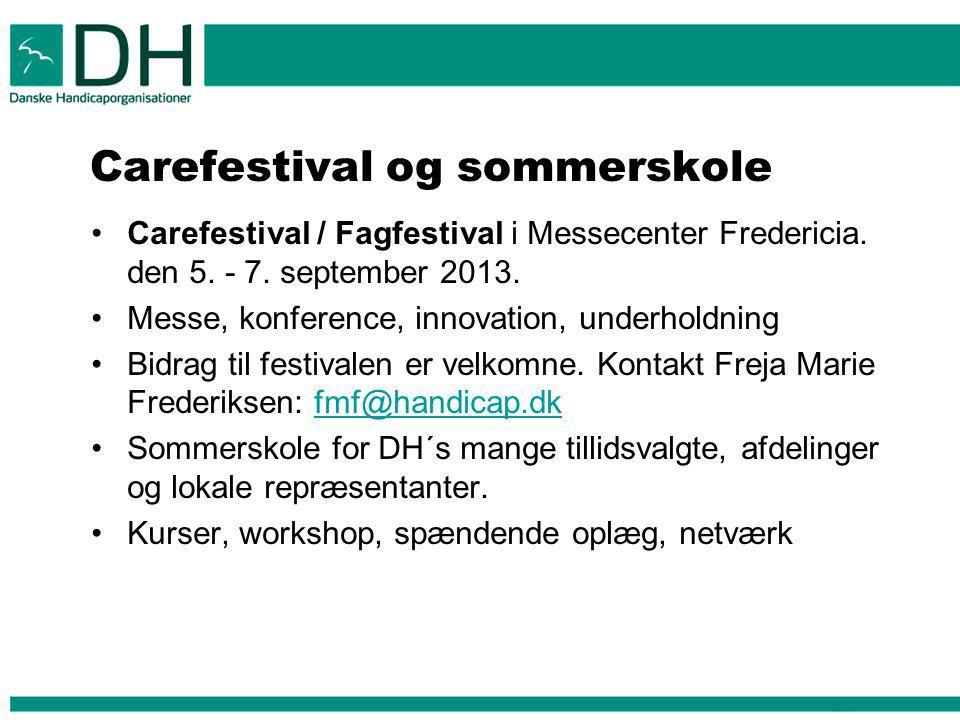Carefestival og sommerskole Carefestival / Fagfestival i Messecenter Fredericia.