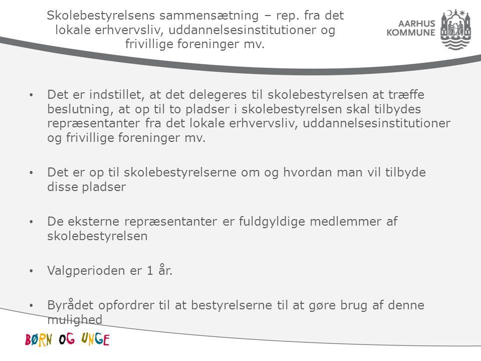 Skolebestyrelsens sammensætning – rep.