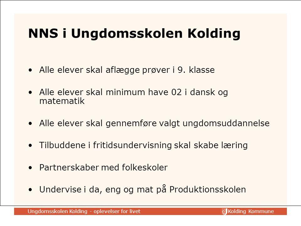 Kolding Kommune NNS i Ungdomsskolen Kolding Alle elever skal aflægge prøver i 9.