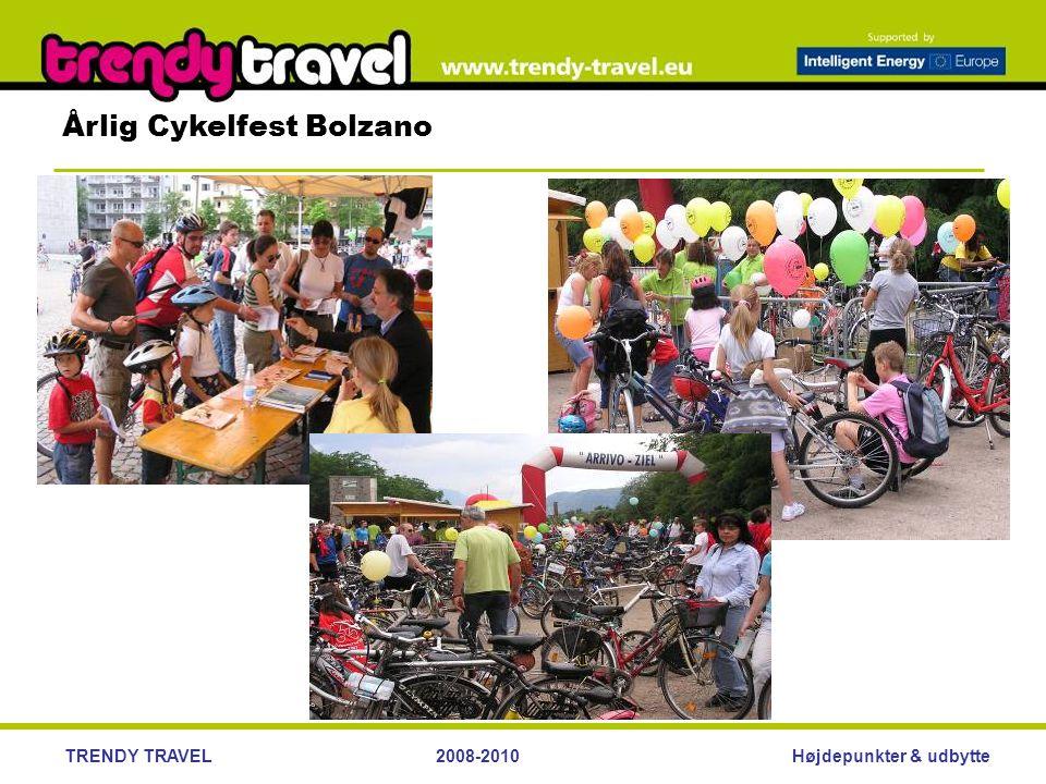 Højdepunkter & udbytteTRENDY TRAVEL2008-2010 Årlig Cykelfest Bolzano