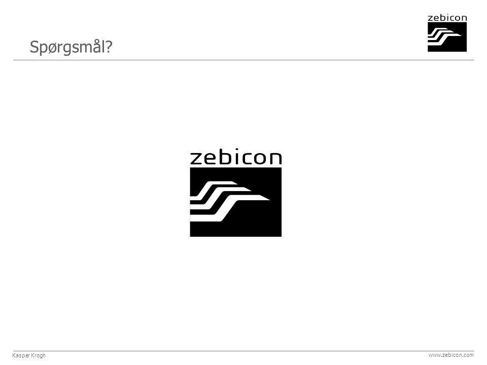 Spørgsmål www.zebicon.com Kasper Krogh