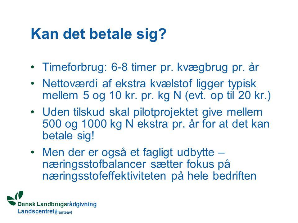 Dansk Landbrugsrådgivning Landscentret | Planteavl Kan det betale sig.