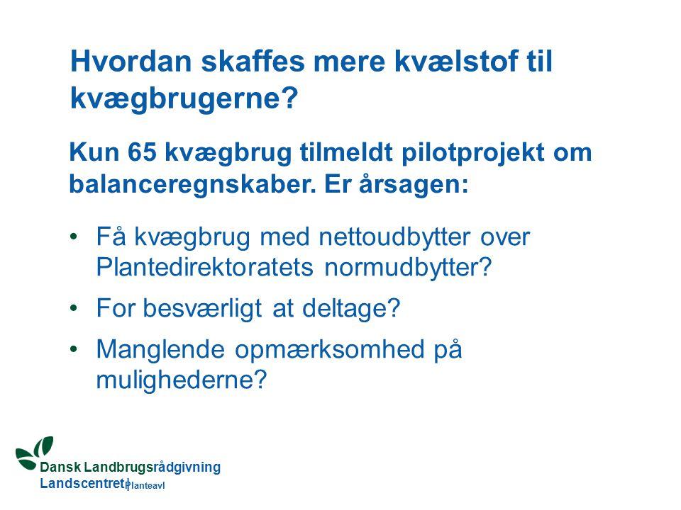 Dansk Landbrugsrådgivning Landscentret | Planteavl Hvordan skaffes mere kvælstof til kvægbrugerne.