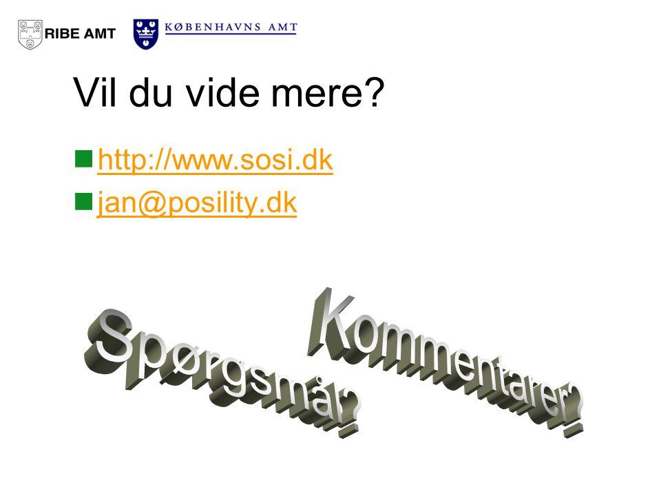 Vil du vide mere http://www.sosi.dk jan@posility.dk