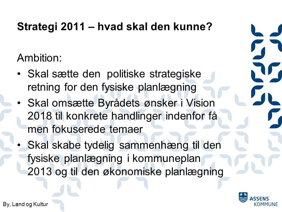 By, Land og Kultur Strategi 2011 – hvad skal den kunne.