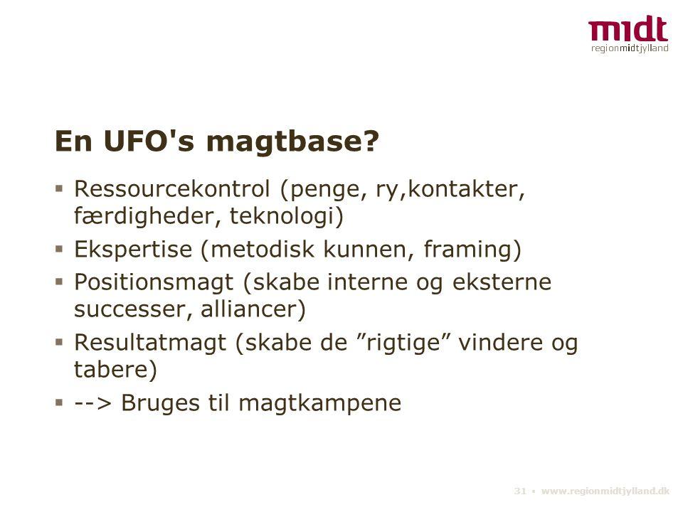 31 ▪ www.regionmidtjylland.dk En UFO s magtbase.
