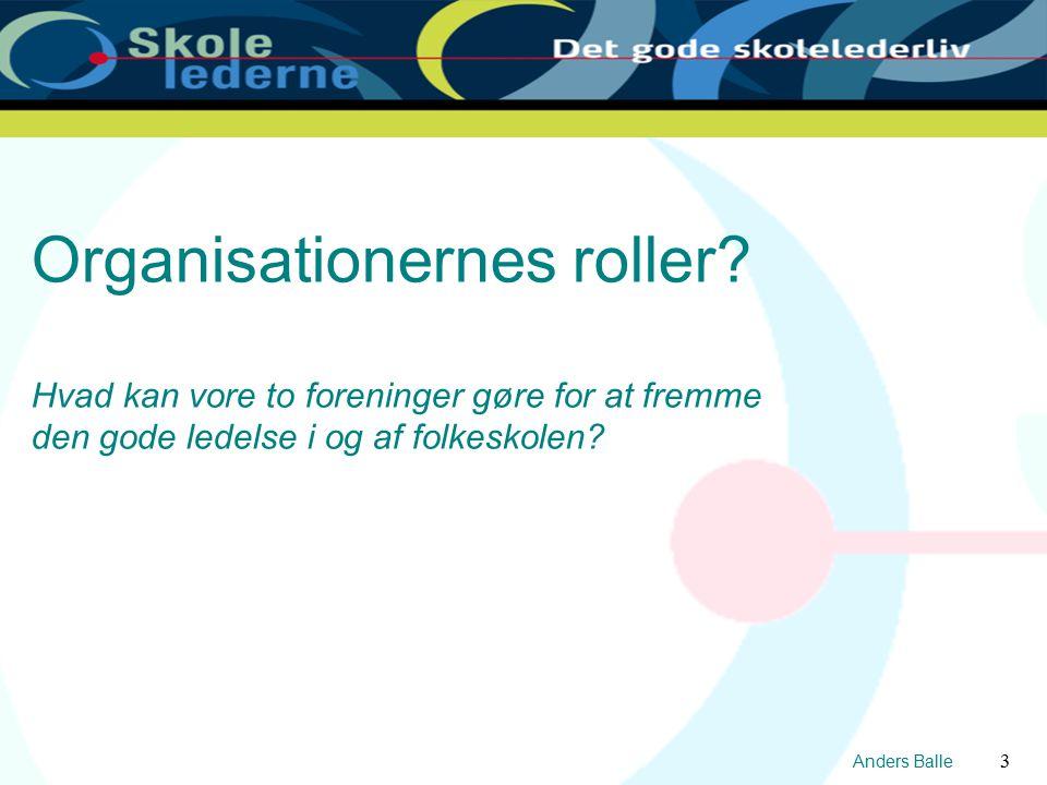 Anders Balle 3 Organisationernes roller.