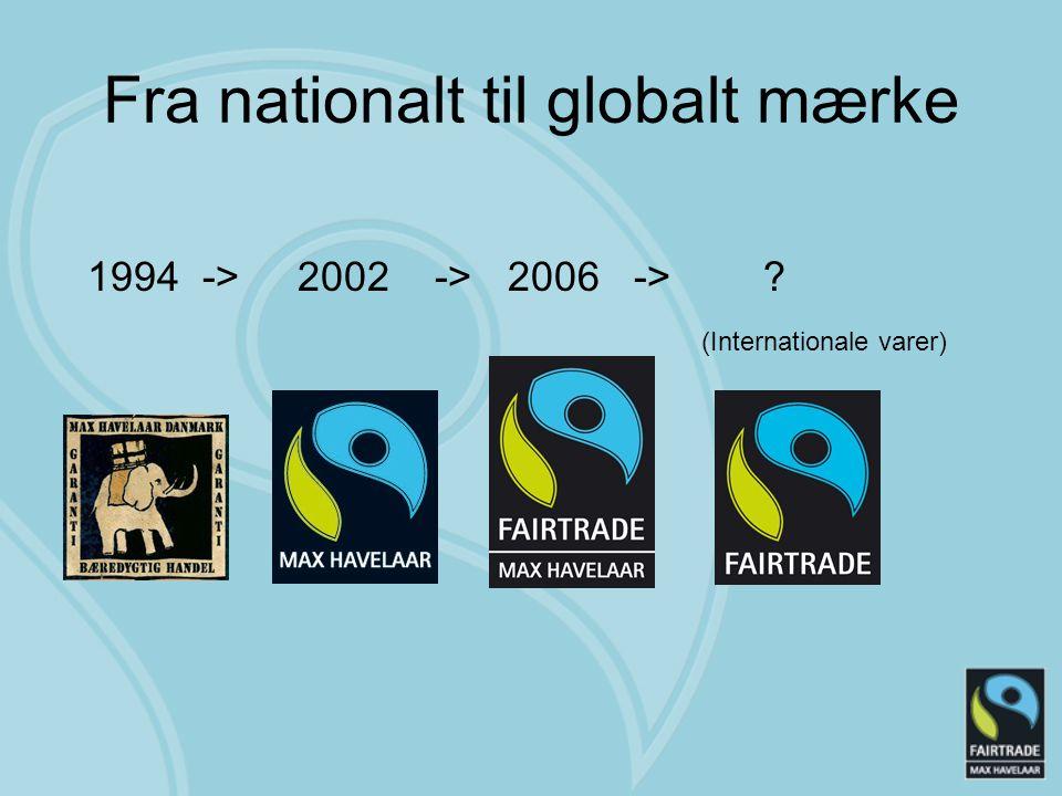 Fra nationalt til globalt mærke 1994 -> 2002 -> 2006 -> (Internationale varer)