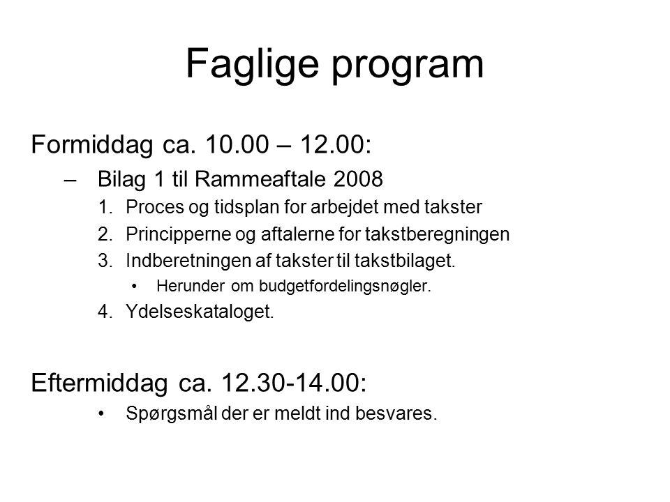 Faglige program Formiddag ca.