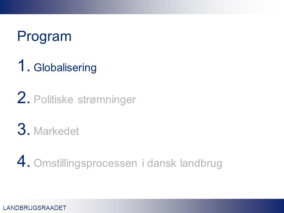 LANDBRUGSRAADET Program 1. Globalisering 2. Politiske strømninger 3.