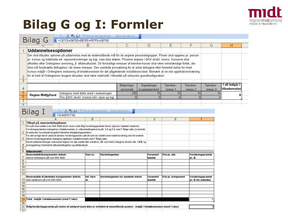Indkøb & Medicoteknik Bilag G og I: Formler Bilag G Bilag I