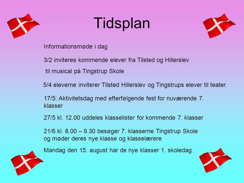 Tidsplan Informationsmøde i dag 17/5: Aktivitetsdag med efterfølgende fest for nuværende 7.