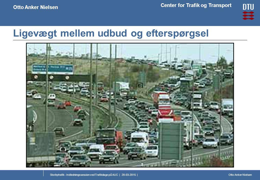 Otto Anker Nielsen Center for Trafik og Transport Otto Anker Nielsen Storbytrafik - Indledningssession ved Trafikdage på AUC | 28-03-2015 | Ligevægt mellem udbud og efterspørgsel