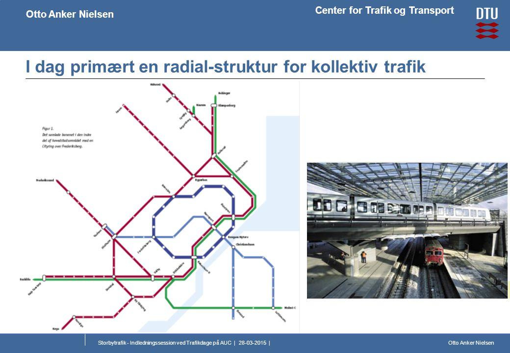 Otto Anker Nielsen Center for Trafik og Transport Otto Anker Nielsen Storbytrafik - Indledningssession ved Trafikdage på AUC | 28-03-2015 | I dag primært en radial-struktur for kollektiv trafik